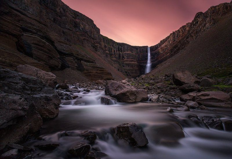 iceland,hengifoss,waterfall Hanging Fallsphoto preview