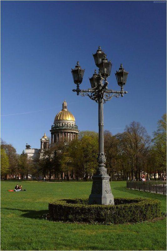 петербург,фонарь,исаакий Этюд с фонаремphoto preview