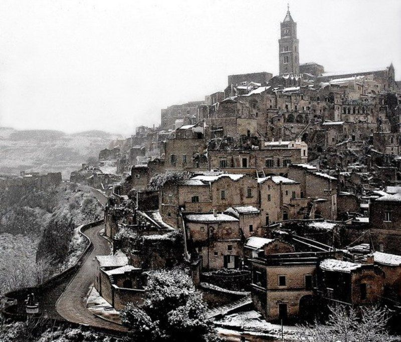 матера, , италия, юг, зима Матераphoto preview