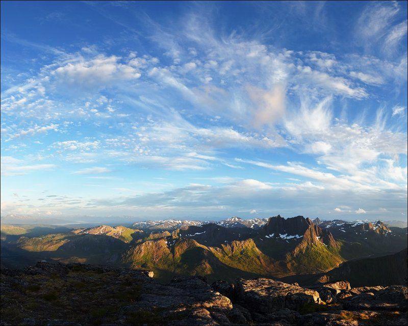 Clouds, Keipen, Mountains, Norway, Senja, Горы, Норвегия, Облака, Сенья Небесные пляскиphoto preview