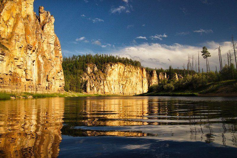 Река Синяя, Синские столбы, Якутия Золото реки Синейphoto preview
