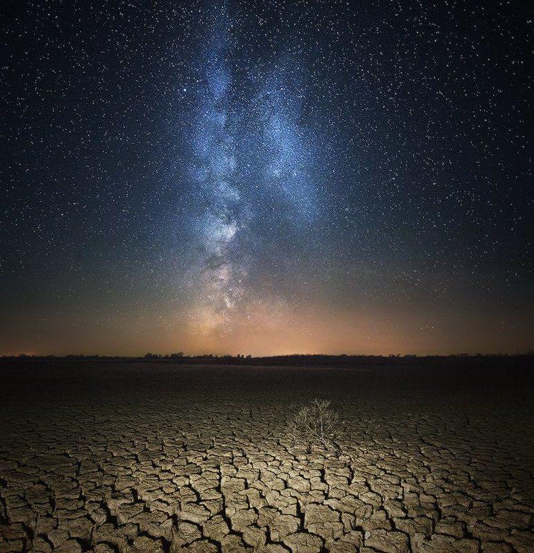 Galaxy, Landscape, Milky way Засуха...photo preview