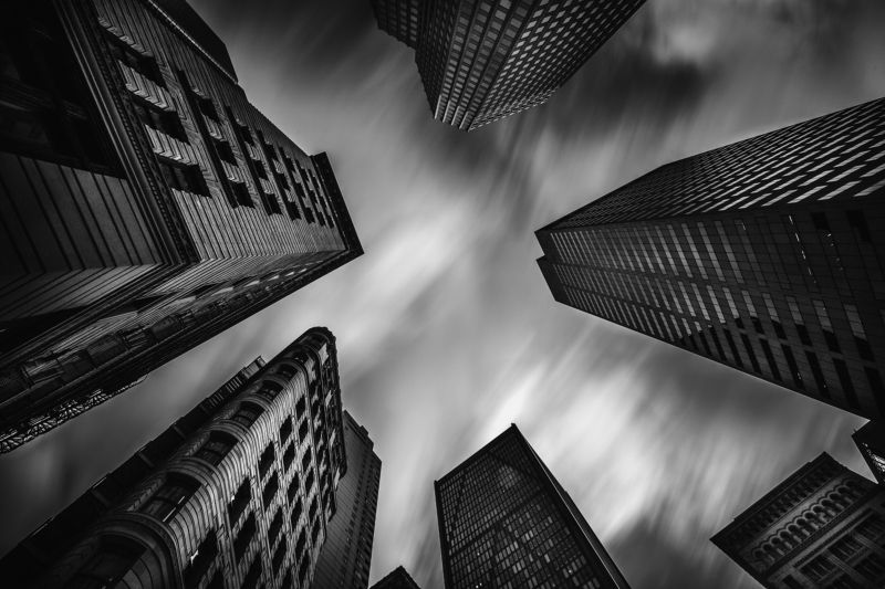 Небо, Небоскрёбы, Ч/б City Skyphoto preview