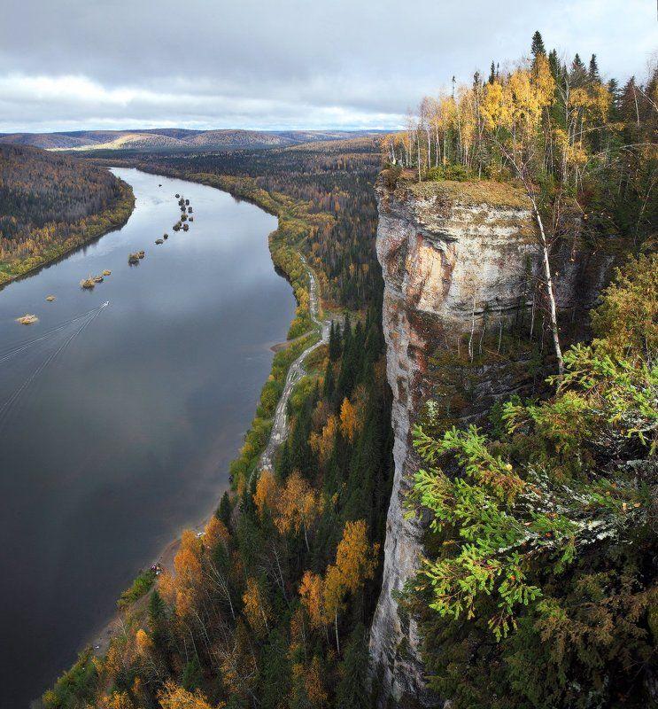 Ветлан, Вишера, Осень, Пейзаж, Природа, Река, Скала, Урал Ветланphoto preview