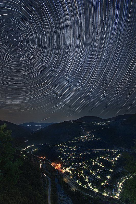 Bulgaria, Mountain), Night sky, Гора, Звезды, Небо, Ночной пейзаж Пируэт под звездамиphoto preview