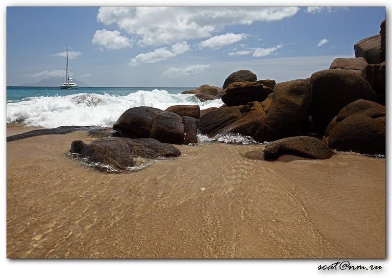 seychelles, anse, stones, catamaran Anse Majorphoto preview