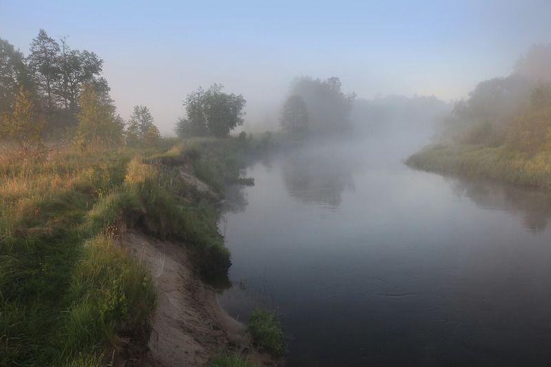 Неман, рассвет, туман Раніцаphoto preview