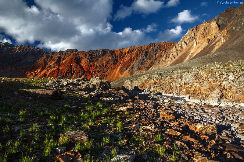 Алтай, Горный алтай, Горы, Красный, Цвет Закатные краски перевала Томич.photo preview