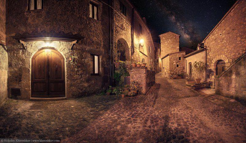 Architecture, Italy, Nightscapes, Sorano, Tuscany, Архитектура, Городской пейзаж, Италия, Ночной пейзаж, Сорано, Тоскана Гуляя по узким улочкам средневекового Сораноphoto preview
