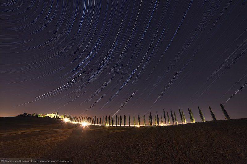 Италия, Ночной пейзаж, Пейзаж, Тоскана Под звездным небом Тосканыphoto preview