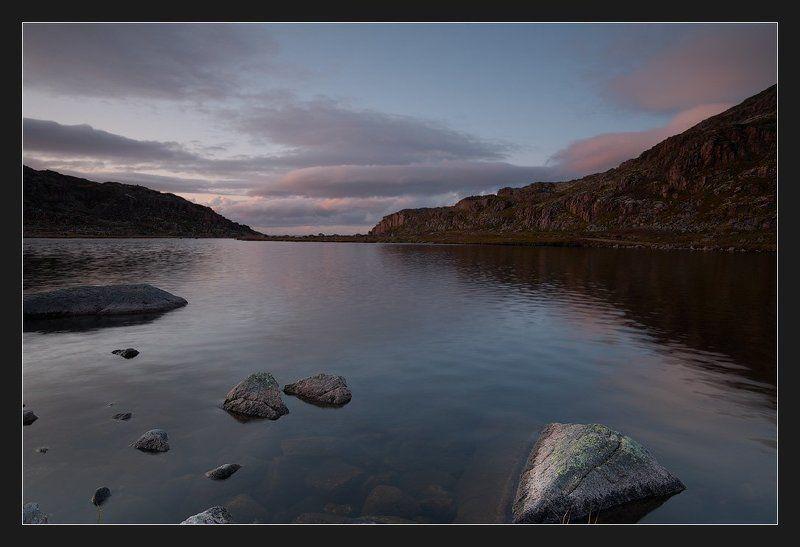 баренцево море, териберка Вечера на озере близ Териберкиphoto preview