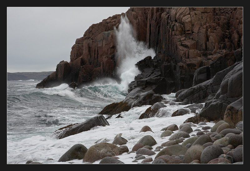 баренцево море, териберка Шторм в Териберкеphoto preview