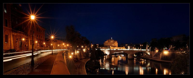 рим, ночной рим, замок святого ангела, sant\'angelo, римский папа григории великий, ангел, крепость Замок Святого Ангела (ночной Рим)photo preview