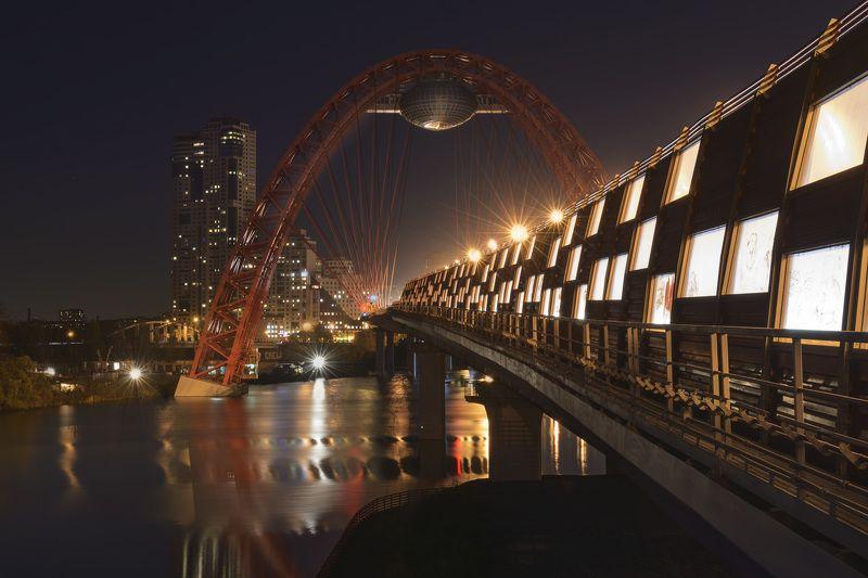 Architecture, Bridge, Moscow, Reflection, Архитектура, Мосты, Отражения Picturesque bridge / Живописный мостphoto preview
