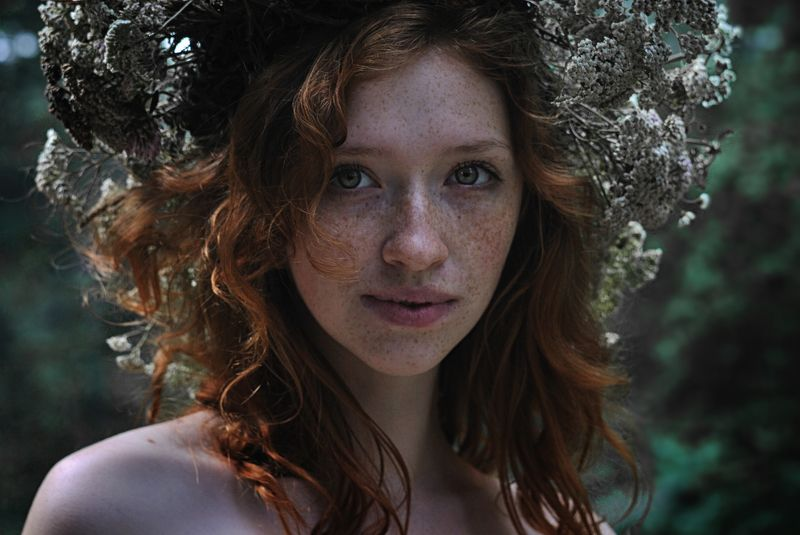 портрет, девушка, рыжая, венок, веснушки, girl, beauty, ginger, freckles, portrait Машаphoto preview