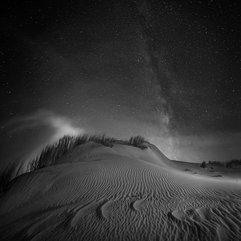 Black and white, Landscape, Nida.long exposure, Night, Nikon Nidaphoto preview