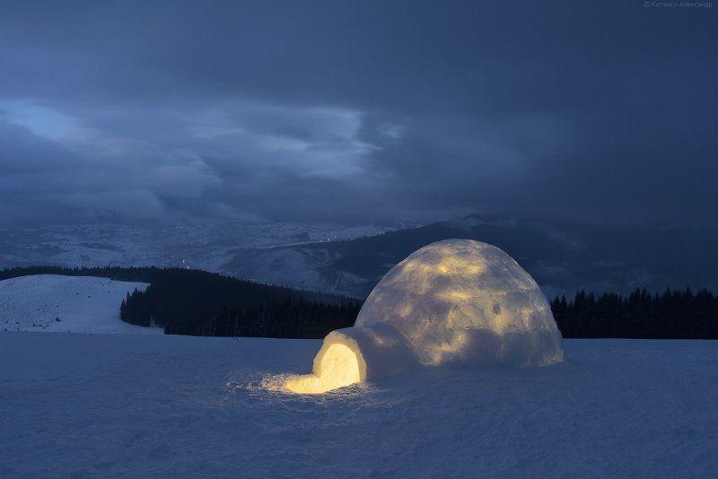 Горы, Зима, Иглу, Карпаты ***photo preview