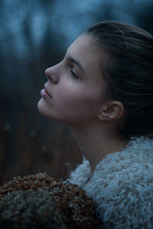 портрет, девушка, профиль, зима, portrait, girl, beauty, winter Зимний портретphoto preview