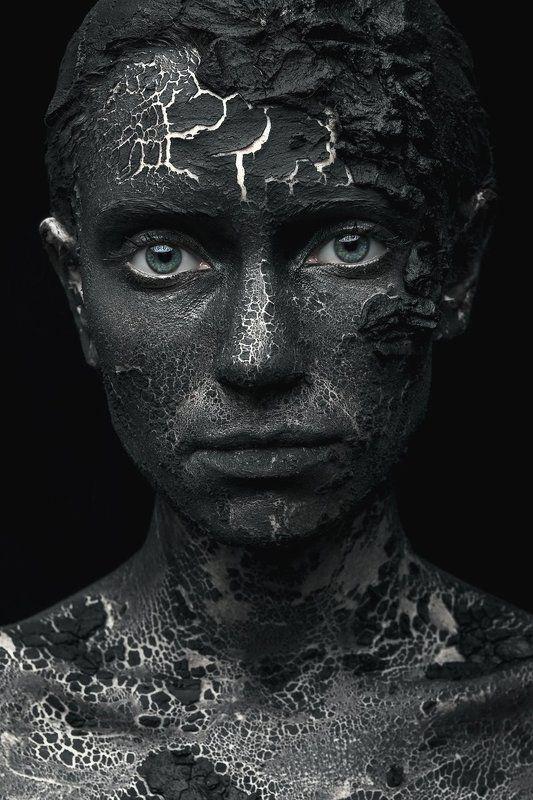 girl, portrait, black, Crackedphoto preview