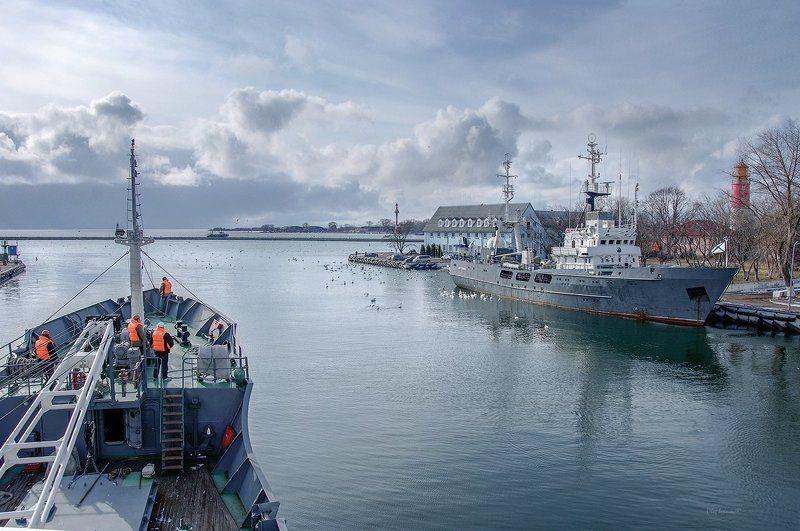 Балтика, Город Балтийск, Зима, Корабли, Море Город русских моряковphoto preview