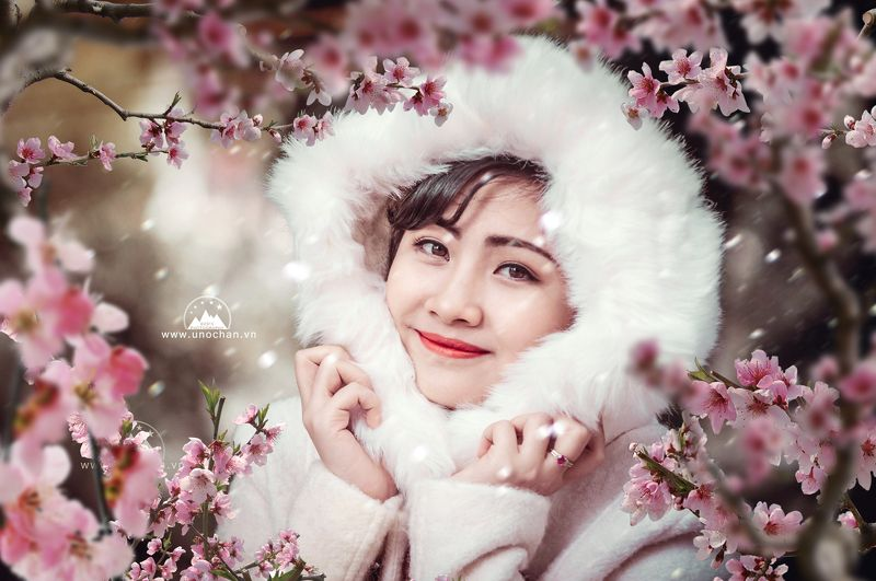 girl, unochan, spring. winter spring and winterphoto preview