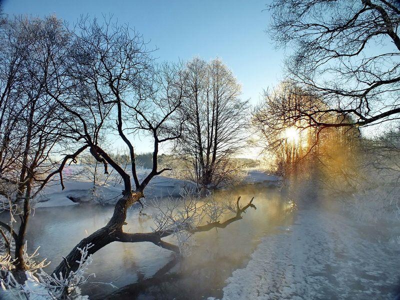 река Свислочь, утро Январское утроphoto preview