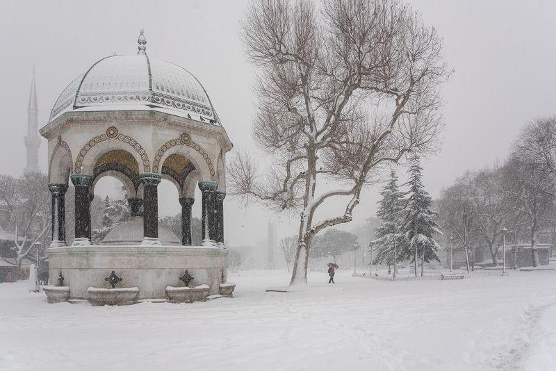 istanbul,turkey,old city,Deutsch Fountain,winter  Deutsch Fountainphoto preview