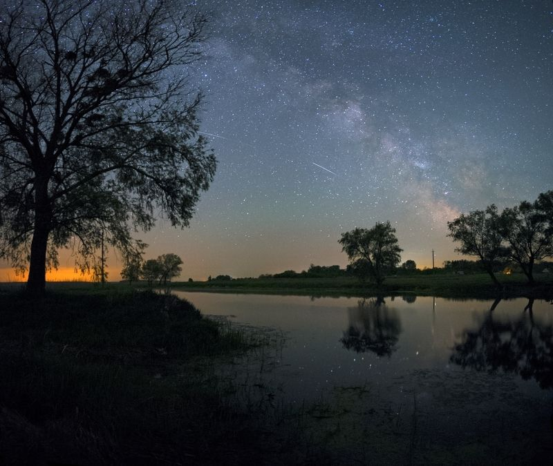 night, stars, Milky way, river, summer In the still of the night...photo preview