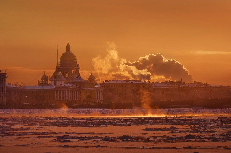 Санкт-Петербург, город, зима Долгожданная зима в Питере. photo preview