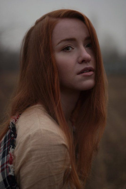 портрет, девушка, рыжая, поле, portrait, girl, ginger, red, field Владаphoto preview