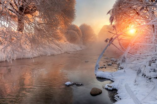 январские морозы на Муринском ручье...