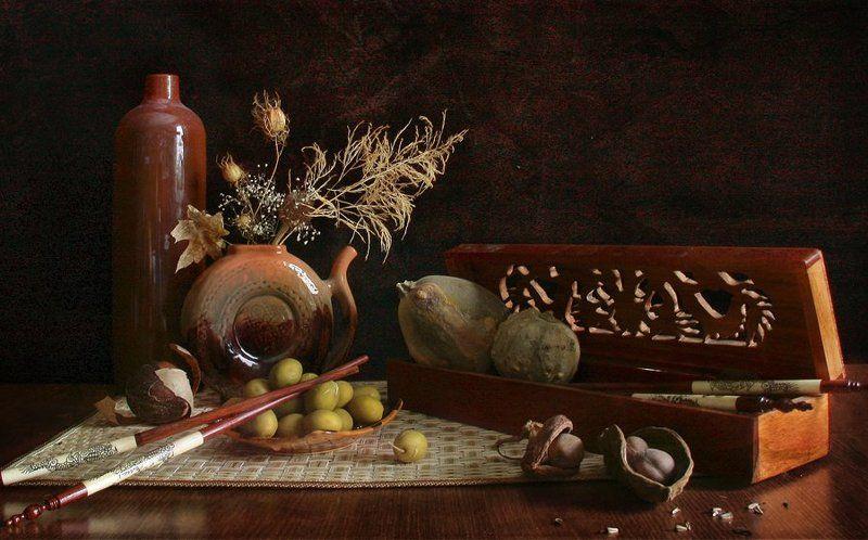Керамика, Натюрморт, Оливка, Сосуд, Фотонатюрморт photo preview