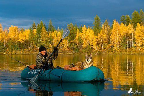 природа рыбаки лодки