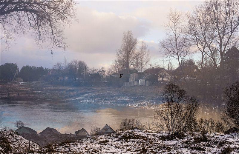 Весна, Мультиэкспозиция, Над рекой, Пейзаж, Ранняя весна головокружение от весныphoto preview