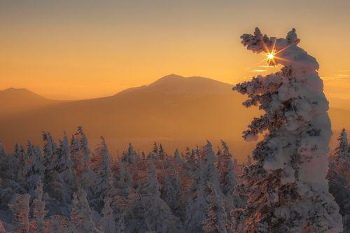 Теплые краски морозного заката
