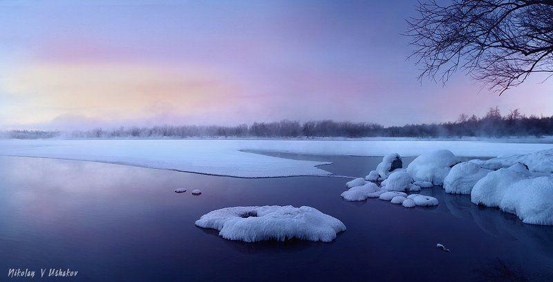 Камчатка река утро Морозное утроphoto preview