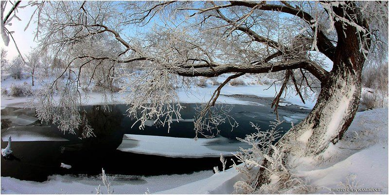 река,зай,вода,россия,ледоход,зима,снег,дерево,salman,фото,лёд, ледоходphoto preview