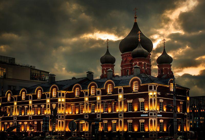 грод, тула, россия, русская, архитектура, ночь, крамль, фото Тула в бронзеphoto preview