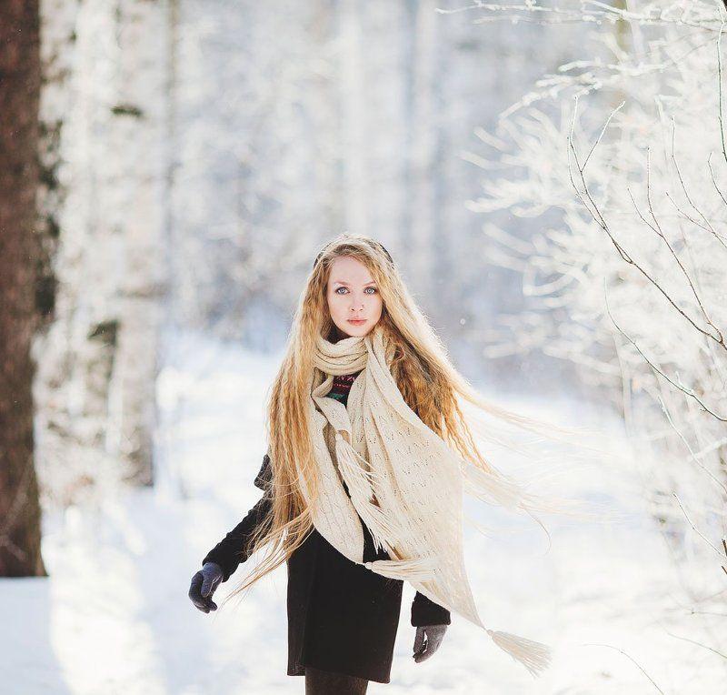 Екатеринбург, Зима, Портрет девушки, Фотограф татьяна кошутина Светаphoto preview