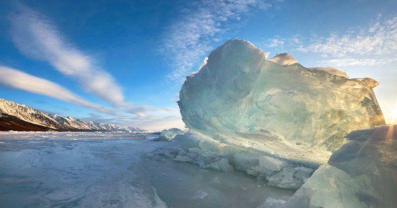 байкал, заворотный, торосы, лёд, утро. Утренний лёдphoto preview