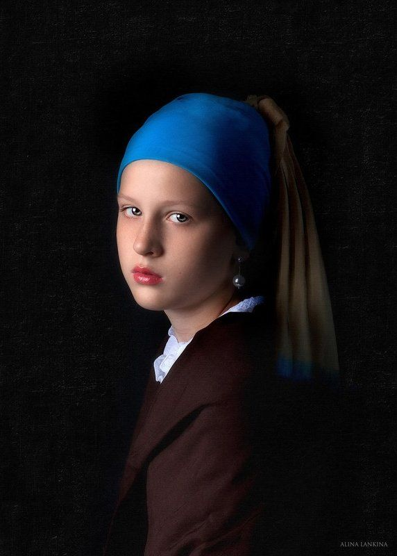 портрет, фотостилизация, фотокартина, девочка, ребенок, алина ланкина ***photo preview