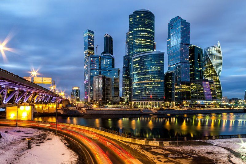 Вечер, Город, Москва, Сити photo preview