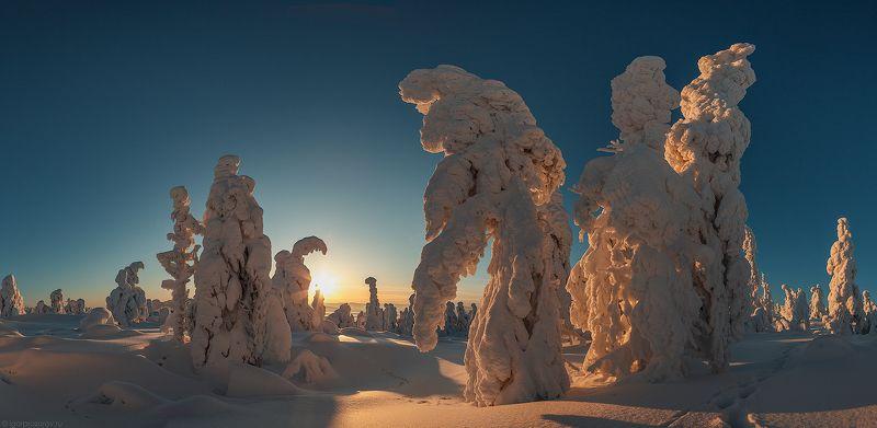 кандалакша, кольский полуостров, пейзаж, закат, зима Здравствуй, март!photo preview