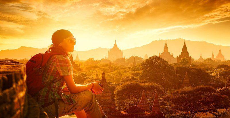 Там где остановилось время . Баган, Мьянма.photo preview
