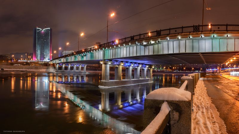мосты, москва, отражения, bridge, Новоарбатский мостphoto preview