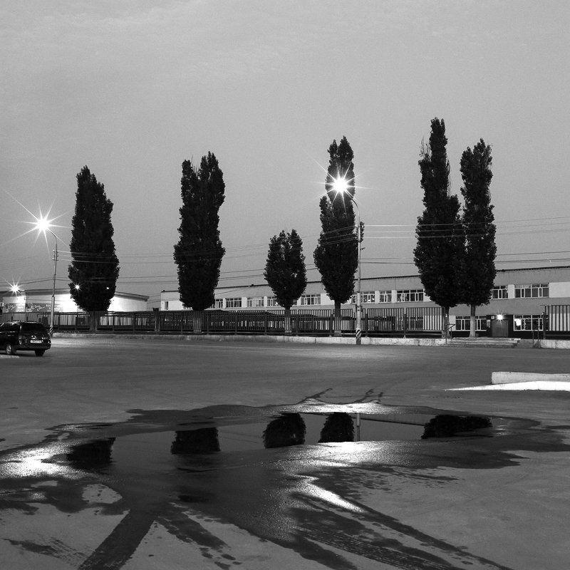 Городской пейзаж., Ночной пейзаж. \