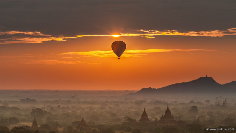 бирма, мьнма, баган, рассвет, путешествия бирманское утроphoto preview