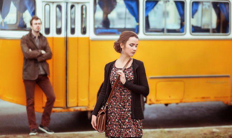 ПАЗ, ораньжевый, автобус, Love Story, любовь, пара, семья, чувства, идеи для Love Story Love Storyphoto preview