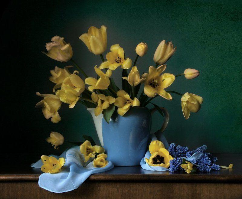Кувшин, Натюрморт, Тюльпаны, Фотонатюрморт Весна нечаянно нагрянет...photo preview
