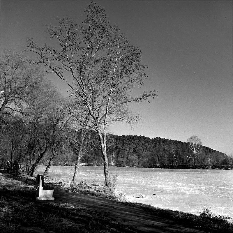 Весна., Парк., Река. \